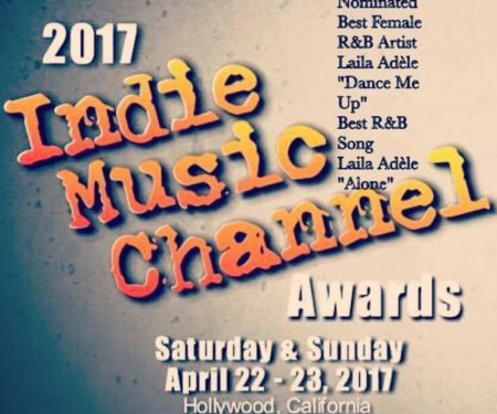 Laila Adèle receives double nominations at this year's Indie Music Channel Awards!